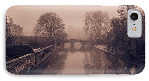 Claire College Bridge Cambridge IPhone Case by David Warrington