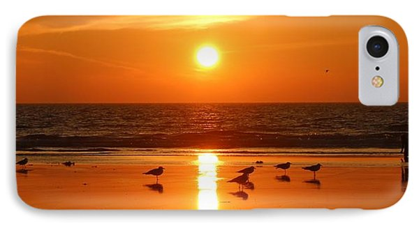 Clam Digging At Sunset - 2 IPhone Case by Christy Pooschke