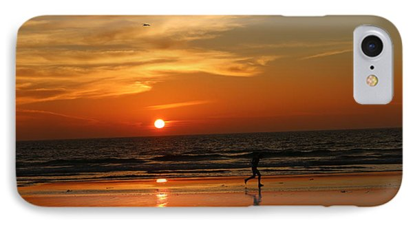 Clam Digging At Sunset - 3 IPhone Case by Christy Pooschke