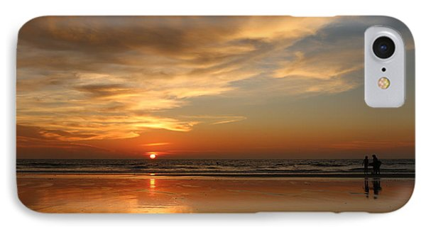 Clam Digging At Sunset - 4 IPhone Case by Christy Pooschke