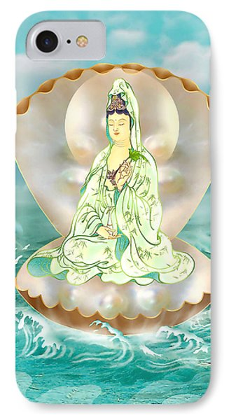 Clam-sitting Kuan Yin IPhone Case by Lanjee Chee