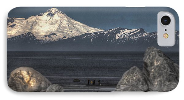 Clamming On The Cook Inlet IPhone Case by David Kehrli