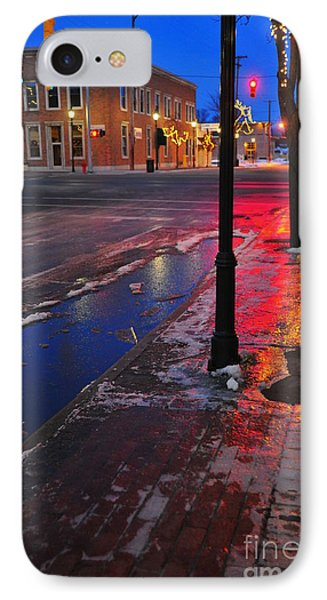 Clare Michigan At Christmas 10 IPhone Case by Terri Gostola