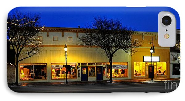 Clare Michigan At Christmas 11 IPhone Case by Terri Gostola