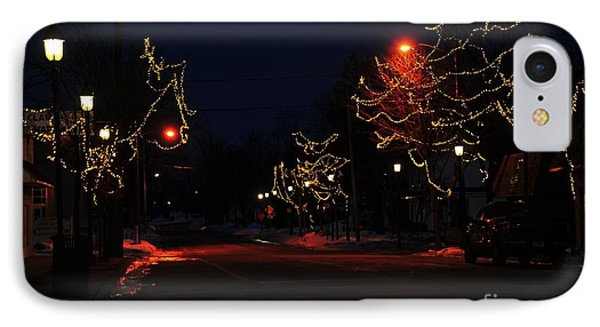 Clare Michigan At Christmas 12 IPhone Case by Terri Gostola