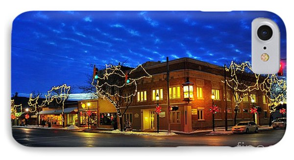 Clare Michigan At Christmas 4 IPhone Case by Terri Gostola