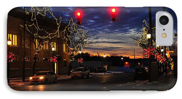 Clare Michigan At Christmas 5 IPhone Case by Terri Gostola