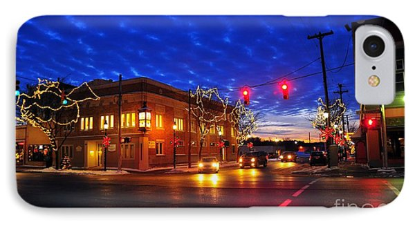 Clare Michigan At Christmas 6 IPhone Case by Terri Gostola