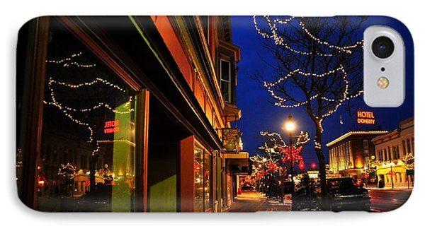Clare Michigan At Christmas 7 IPhone Case by Terri Gostola