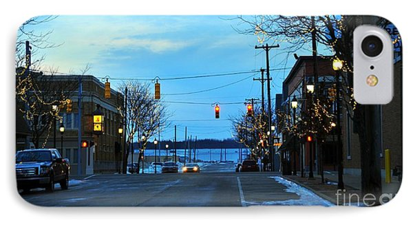 Clare Michigan At Christmas 8 IPhone Case by Terri Gostola