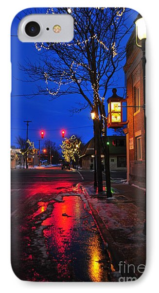 Clare Michigan At Christmas 9 IPhone Case by Terri Gostola