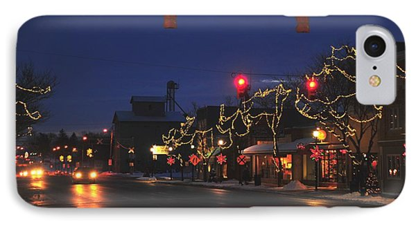 Clare Michigan At Christmas  IPhone Case by Terri Gostola
