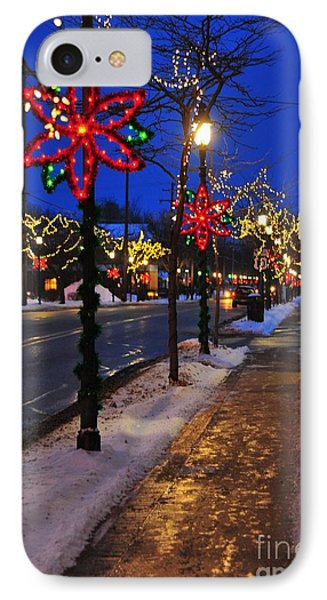 Clare Michigan Decorated For Christmas 2 IPhone Case by Terri Gostola
