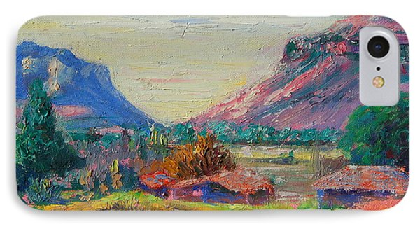 IPhone Case featuring the painting Clarence Mountain Free State South Africa by Thomas Bertram POOLE