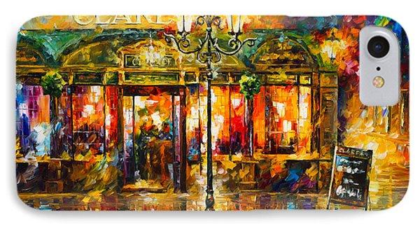 Clarens Misty Cafe Phone Case by Leonid Afremov