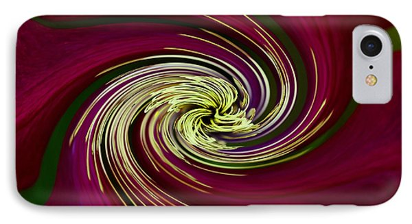 IPhone Case featuring the photograph Claret Red Swirl Clematis by Debbie Oppermann