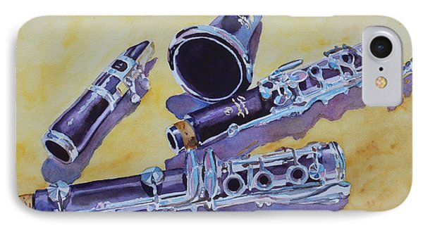 Clarinet Candy Phone Case by Jenny Armitage