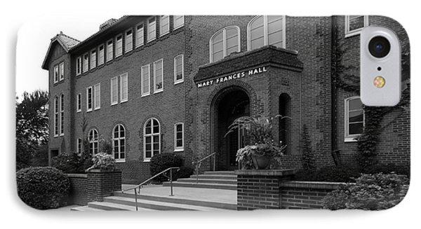 Clarke University Frances Hall Phone Case by University Icons