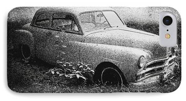 Clasic Car - Pen And Ink Effect Phone Case by Brian Wallace