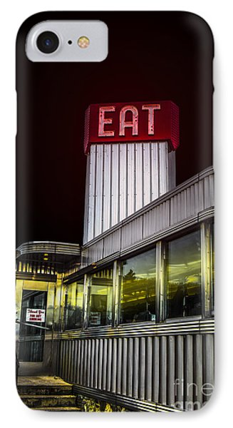 Classic American Diner At Night Phone Case by Diane Diederich