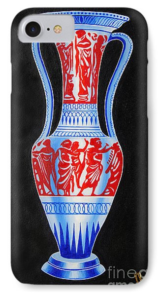IPhone Case featuring the painting Classic Ancient Grecian Pottery by Ragunath Venkatraman