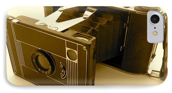 Classic Bellows Folding Camera IPhone Case by John Colley