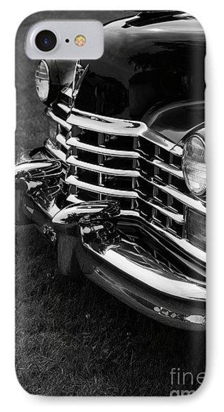 Classic Cadillac Sedan Black And White Phone Case by Edward Fielding