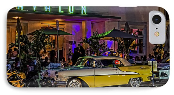 Classic Car At The Avalon IPhone Case by Rob Tullis