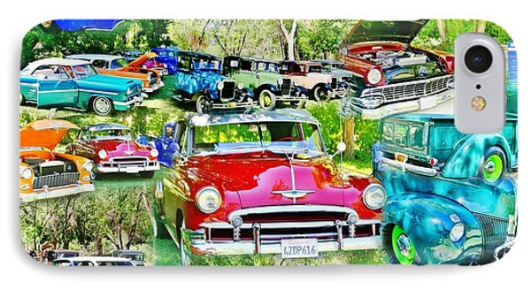 Classic Car Collage IPhone Case by Marilyn Diaz