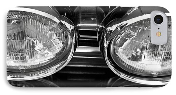 Classic Car Grill And Lights IPhone Case by Mick Flynn