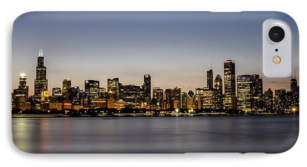 Classic Chicago Skyline At Dusk IPhone Case by Sven Brogren