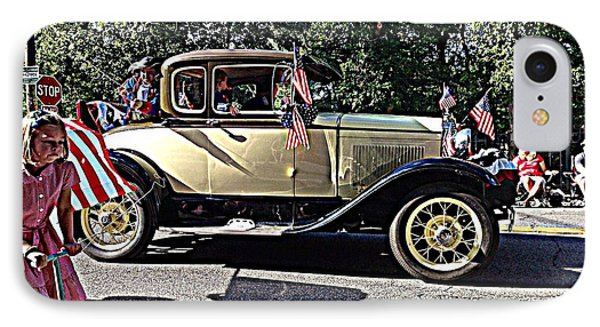 Classic Children's Parade Classic Car East Millcreek Utah 1 IPhone Case by Richard W Linford