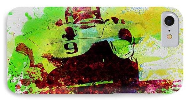 Classic Ferrari On Race Track IPhone Case by Naxart Studio