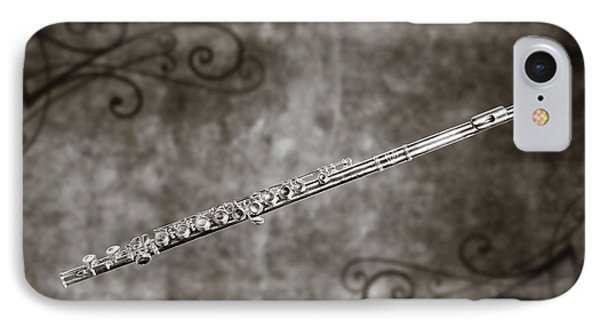 Classic Flute Music Instrument Photograph In Sepia 3306.01 IPhone Case