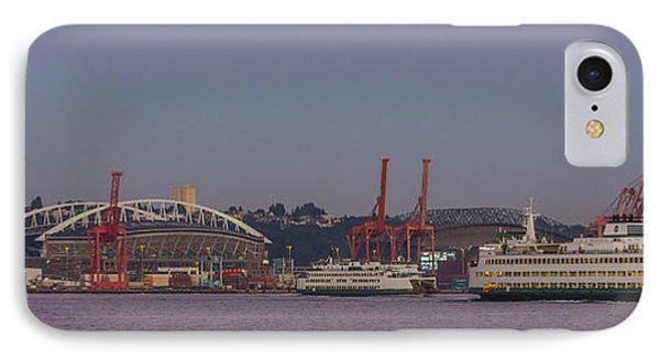 Classic Full Moon And Ferries Panorama IPhone Case
