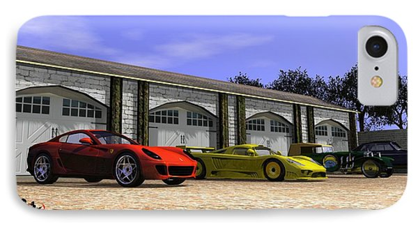 Classic Garage IPhone Case by John Pangia