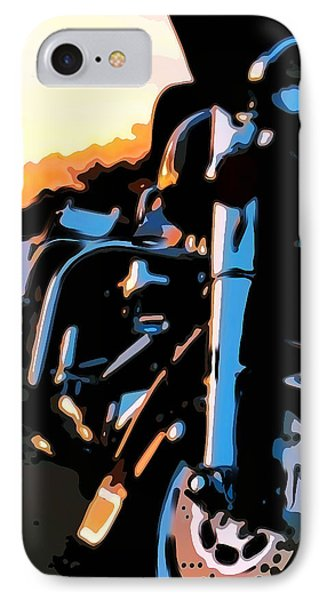 Classic Harley Phone Case by Michael Pickett