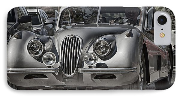 IPhone Case featuring the photograph Classic Jaguar  by Alan Raasch
