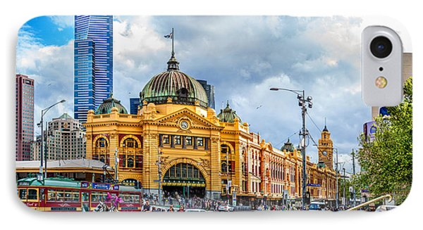 Classic Melbourne IPhone Case by Az Jackson