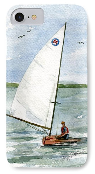IPhone Case featuring the painting Classic Moth Boat by Nancy Patterson