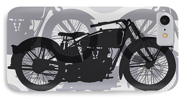 Classic Motorcycle  Phone Case by Daniel Hagerman
