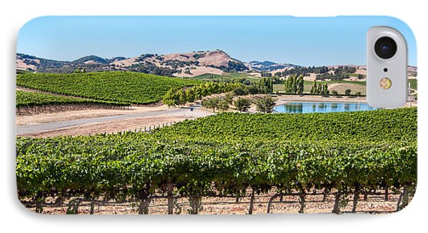 Classic Napa - Cuvaison Winery And Vineyard In Napa Valley. IPhone Case