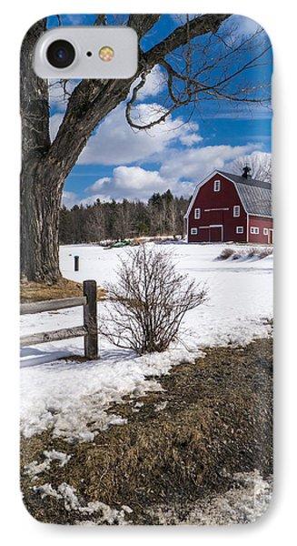 Classic New England Farm Scene Phone Case by Edward Fielding