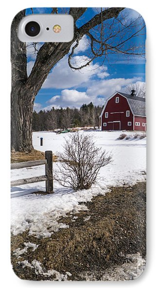 Classic New England Farm Scene IPhone Case by Edward Fielding