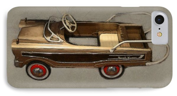 Classic Ranch Wagon Pedal Car Phone Case by Michelle Calkins