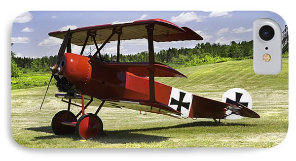 Classic Red Barron Fokker Dr.1 Triplane Photo IPhone Case by Keith Webber Jr