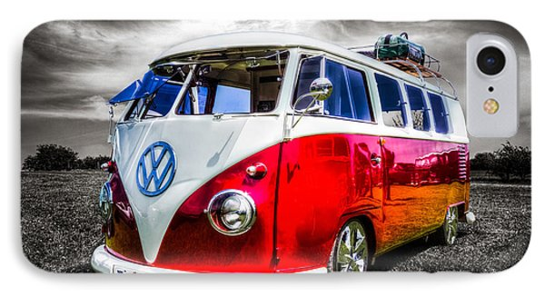 Classic Red Vw Campavan IPhone Case