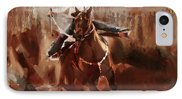 Classic Rodeo 1 IPhone Case by Maryam Mughal