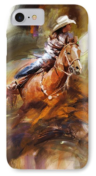 Classic Rodeo 6 IPhone Case by Maryam Mughal