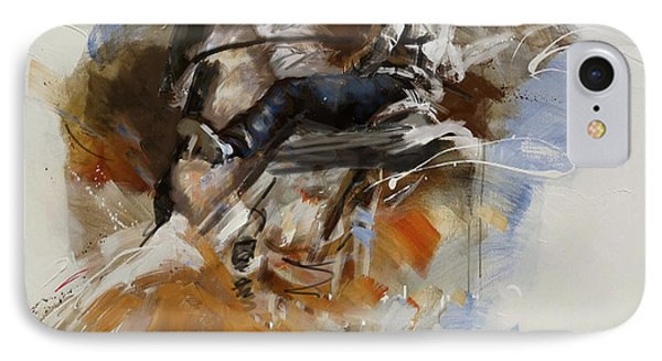 Classic Rodeo 7b IPhone Case by Maryam Mughal